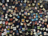 9/11 Messages on Tiles on Fence in Greenwich Village  Manhattan  New York  New York State  USA