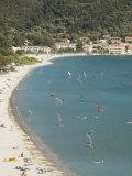 Windsurfing at Vasiliki Beach  Vasiliki  Lefkada  Ionian Islands  Greek Islands  Greece