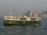 Star Ferry Crossing Victoria Harbour  Hong Kong  China
