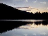 Sunset Behind Mirror Lake  Gunnison National Forest  Colorado  USA
