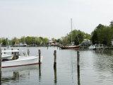Oxford Bellevue Ferry  Oxford  Talbot County  Tred Avon River  Chesapeake Bay Area  Maryland  USA