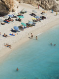 Porto Katsiki Beach  West Coast of Lefkada  Ionian Islands  Greek Islands  Greece  Europe