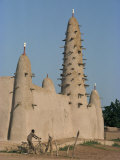 Mud Built Minaret and Mosque  Koupela  Burkina Faso  Africa