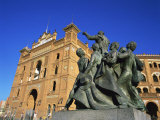 Statue in Front of the Bullring in the Plaza De Toros in Madrid  Spain  Europe