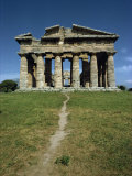 Temple of Neptune at Paestum  Near Salerno  Campania  Italy  Europe