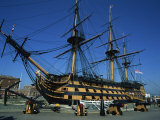Hms Victory in Dock at Portsmouth  Hampshire  England  United Kingdom  Europe