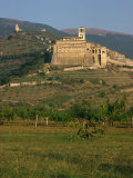 Basilica of St Francis of Assisi  Assisi  in the Countryside of Umbria  Italy