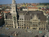 Neues Rathaus and Marienplatz  Munich  Bavaria  Germany  Europe