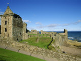 St Andrew's Castle Founded around 1200  the Oldest University Town in Scotland  Fife  Scotland