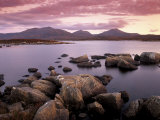 Loch Druidibeg Nature Reserve at Sunset  South Uist  Outer Hebrides  Scotland  UK