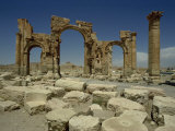 Triumphal Arch  Palmyra  UNESCO World Heritage Site  Syria  Middle East