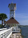 Pier and Clock  Bradenton Beach  Anna Maria Island  Florida  USA
