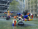 Colourful Sculptures of the Tinguely Fountain  Pompidou Centre  Beaubourg  Paris  France  Europe