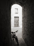 Infra Red Image of a Bicycle in Shady Alleyway  San Quirico D'Orcia  Tuscany  Italy  Europe