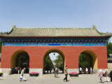 An Entrance Gate at the Temple of Heaven  UNESCO World Heritage Site  Beijing  China