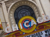 Chicago Theatre  Theatre District  Chicago  Illinois  United States of America  North America