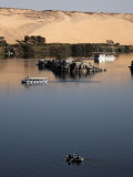 Overlooking the River Nile at Aswan  Egypt  North Africa  Africa