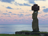 Ahu Ko Te Riku  the Only Topknotted and Eyeballed Moai on the Island  Rapa Nui  Chile