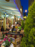 Restaurant Dining Outdoors in the Trendy Tourist District of Sultanahmet  Istanbul  Turkey  Europe