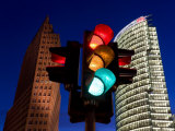 Traffic Signal and Office Buildingst  Potsdamer Platz  Berlin  Germany
