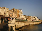 Seafront Area at the Historical Area of Ortygia  Syracuse  Sicily  Italy  Europe