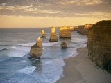 Twelve Apostles Along the Coast on the Great Ocean Road in Victoria  Australia  Pacific