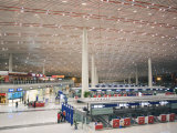 Check-In Counters at Beijing Capital Airport  Second Largest Building in the World  Beijing  China