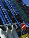 Exterior Detail of Pipes at the Pompidou Centre  Beaubourg  Paris  France  Europe