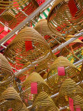 Incense Coils at the Man Mo Chinese Temple  Central District  Hong Kong Island  Hong Kong  China