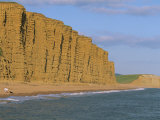 Cliffs Towering over West Bay Beach  Dorset  England  United Kingdom  Europe