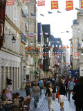 People Walking Along the Rue Du Gros Horloge  the Main Street of Old Rouen  Normandy  France