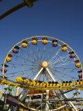 Rollercoaster at the Santa Monica Pier  Santa Monica  Los Angeles  California  USA