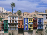 Brightly Painted Houses at Villajoyosa in Valencia  Spain  Europe