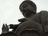 Big Buddha Statue  Po Lin Monastery  Lantau Island  Hong Kong  China