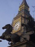 Big Ben Seen Through the Statue of Boudica  Westminster  London  England  United Kingdom