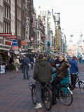 Damrak  a Busy Thoroughfare in the Centre of the City  Amsterdam  Netherlands  Europe