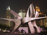 Modern Art Installation to Commemorate the 530 Revolution  Renmin Square  Shanghai  China