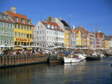 Waterfront District  Nyhavn  Copenhagen  Denmark  Scandinavia  Europe