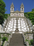 Basilica and Famous Staircases of Bom Jesus  Completed in 1837  Braga  Minho Region of Portugal