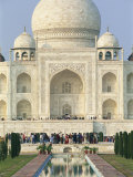Taj Mahal  UNESCO World Heritage Site  Agra  Uttar Pradesh State  India