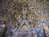 Statue of Avalokitesvara with One Thousand Arms  Dazu Buddhist Rock Sculptures  China