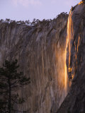 Horsetail Falls  Yosemite Valley  Yosemite National Park  California  USA