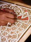 Calligrapher at the Medina  Marrakesh  Morocco  North Africa  Africa