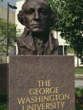 Bust of George Washington  George Washington University  Washington DC  USA