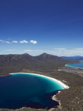 White Sand Beach  Wineglass Bay  Coles Bay  Freycinet National Park Tasmania  Australia