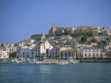 Ibiza Town Skyline and Harbour  Ibiza  Balearic Islands  Spain  Mediterranean  Europe