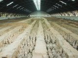Museum of the Terracotta Warriors Opened in 1979 Near Xian City  Shaanxi Province  China