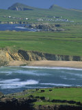 Aerial View over the Dingle Peninsula  County Kerry  Munster  Republic of Ireland  Europe