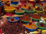 Spices on Sale in Market  Tunisia  North Africa  Africa