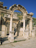 Columns of the Aphrodite Temple at the Archaeological Site of Aphrodisias  Anatolia  Turkey Minor